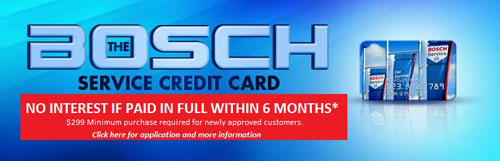 Financing Through Bosch Credit